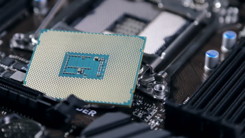 Cpu and motherboard for a home computer   Shutterstock HD Video #19073971