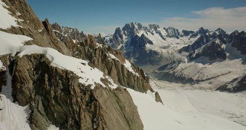 Mt. Aiguille Verte, Mer de Glace Glacier, Mont Blanc Massif,Chamonix,Haute Savoie, France, Europe