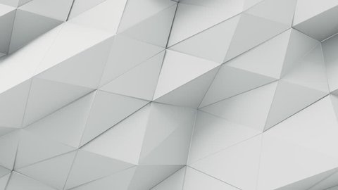 Abstract Triangle Background Random Motion, 3d Loopable Animation 4k