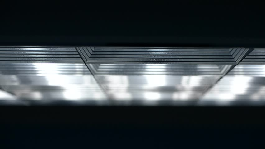 Fluorescent lights turning on and off   Shutterstock HD Video #19189351