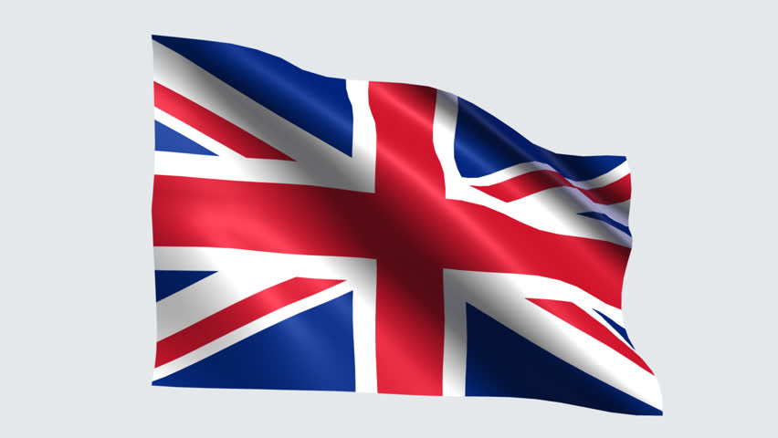 Stock Video Of United Kingdom Flag With Transparent Background