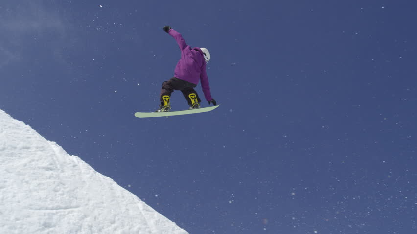 88532b56f8 Slow Motion  Young Pro Snowboarder Stock Footage Video (100% Royalty-free)  19243921
