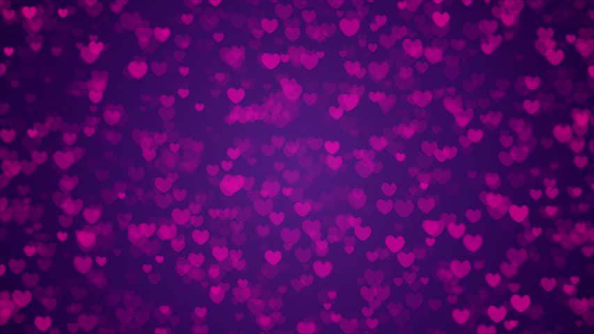 Purple And Black Hearts Wallpaper: Bright Hearts Glow Stock Footage Video 3120526
