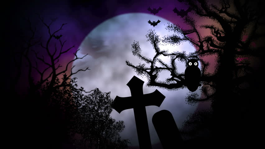 Spooky cemetery stock footage video 1953034 shutterstock - Scary animated backgrounds ...