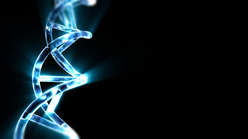 DNA string with blue light beams