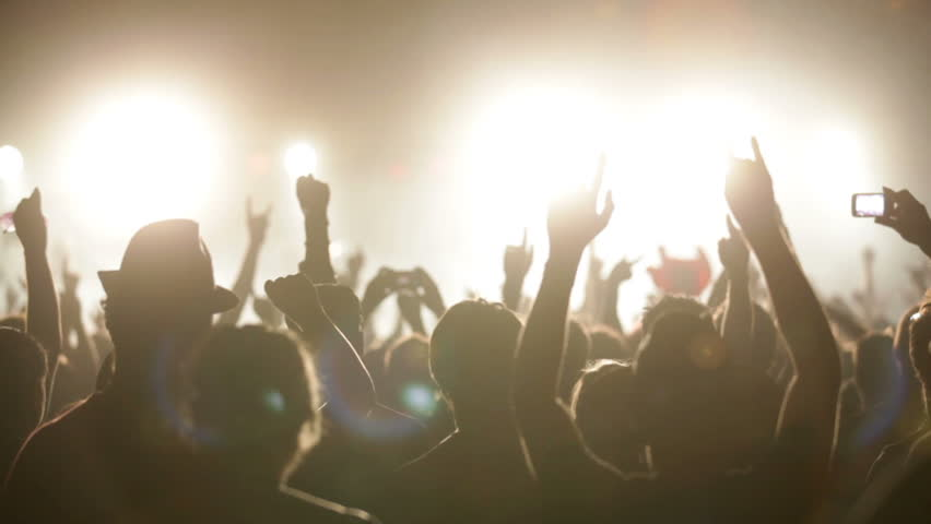 Footage of a crowd partying at a rock concert | Shutterstock HD Video #1935826