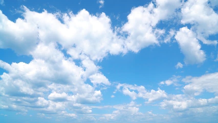 the clear skythe clear sky with a cloud stock footage