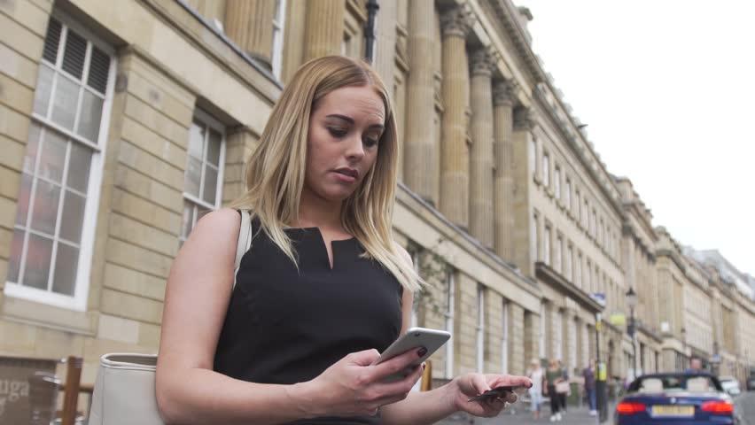 Woman in black free online
