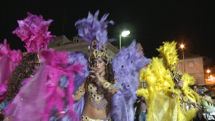 SESIMBRA, PORTUGAL - FEBRUARY 14: Brazilian Carnival event on February 14,  2010 in Sesimbra, Portugal.