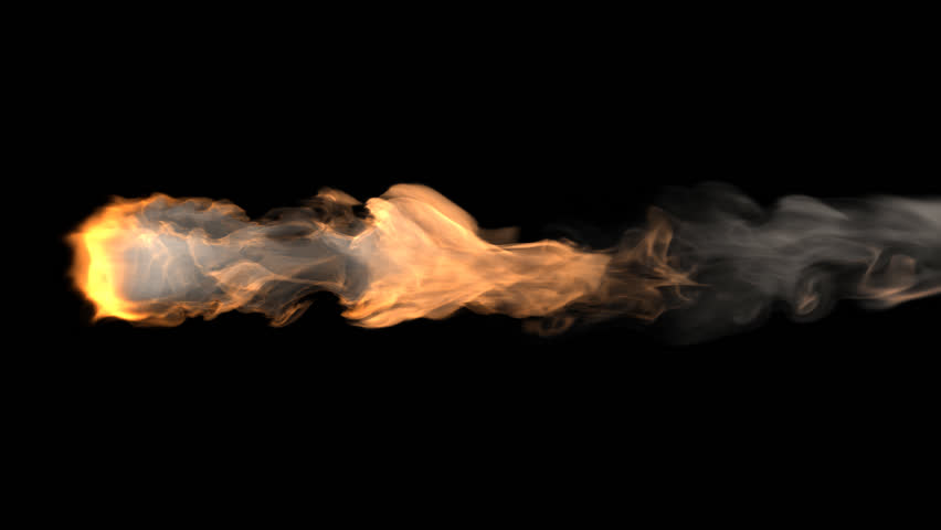 Flame thrower 3D rendering with ALPHA.