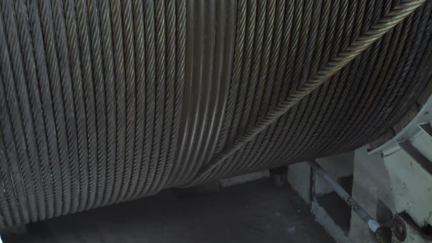 Steel wire rope wound on winch drum