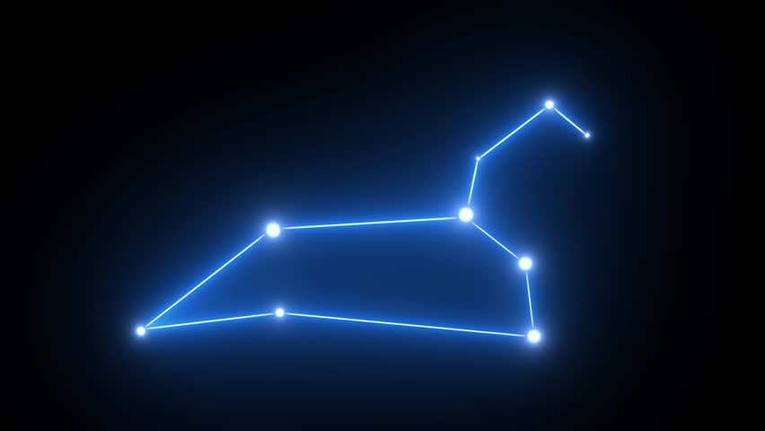 Zodiac Leo Star Constellation Forming in Glowing Light