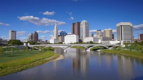 Columbus Skyline from Across the Scioto River