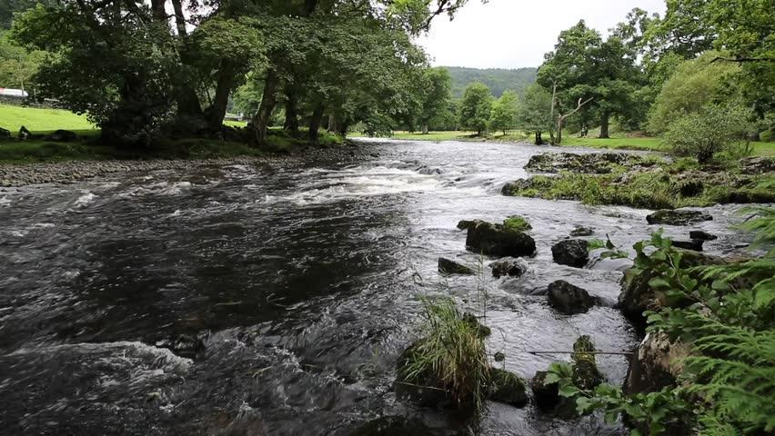 Betws-y-Coed Wales UK Snowdonia National Park Afon Llugwy river walk towards Swallow falls