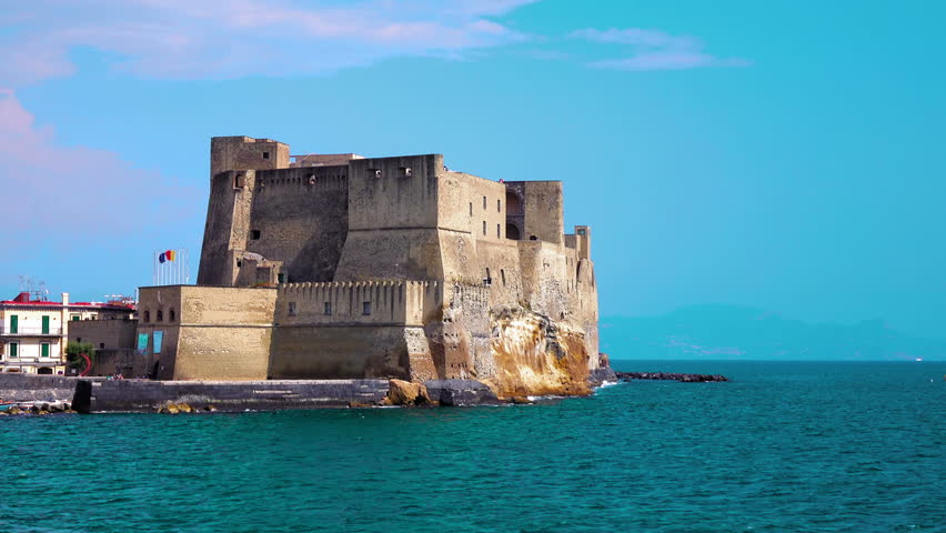naples italy july 27 2016 4k castle in naples italy with - Blue Castle 2016