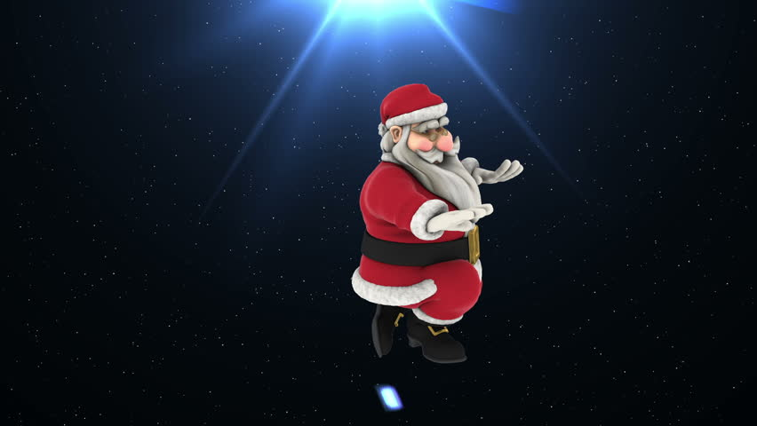 Hip Hop Dance 5 - Santa Claus Hip Hop Funny Dancing , Christmas dancing, Christmas Party Background. snowflakes, Full HD , 1920x1080, MOV - Photo JPEG , Have a look at the other Footage series