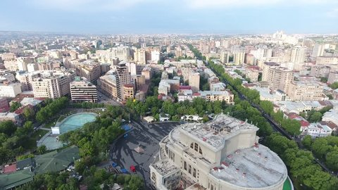 Ariel Video of the Yerevan Opera House in Armenia