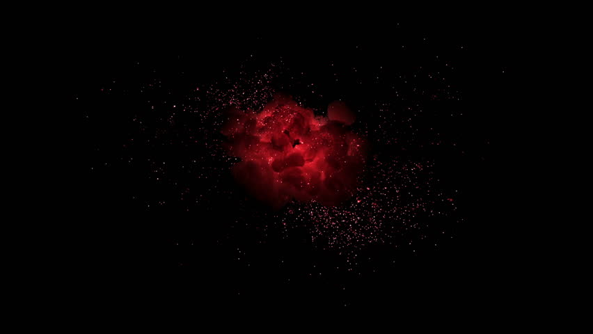 High quality motion animation representing mystical fire or magic special effects, animated on a black background.