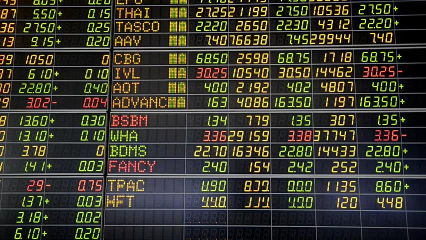 Bangkok, Thailand - August 7: Economic conditions of the Stock Exchange of Thailand on August 7, 2016   Shutterstock HD Video #19685641
