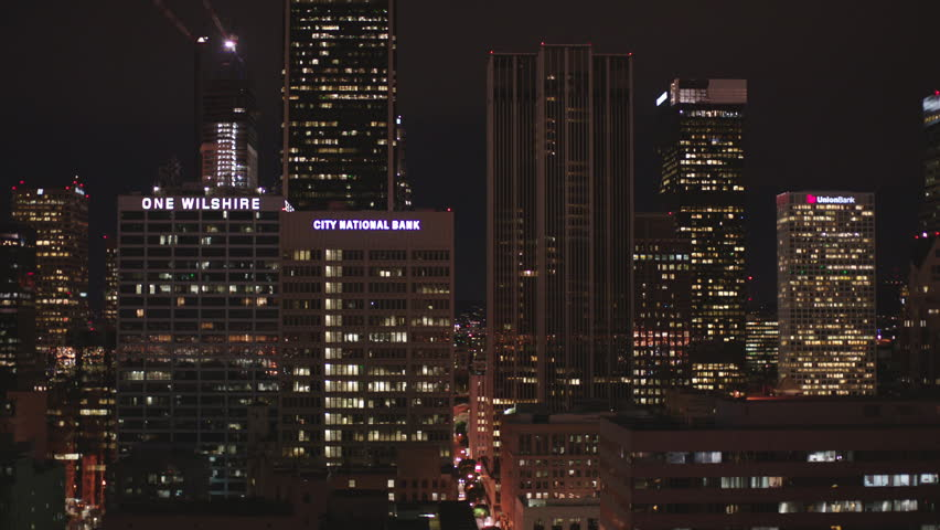 Apartment Building And Windows At Night Timelapse Stock Footage