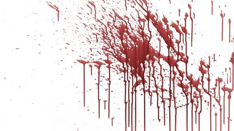 Physical blood splash pre-keyed with alpha channel.