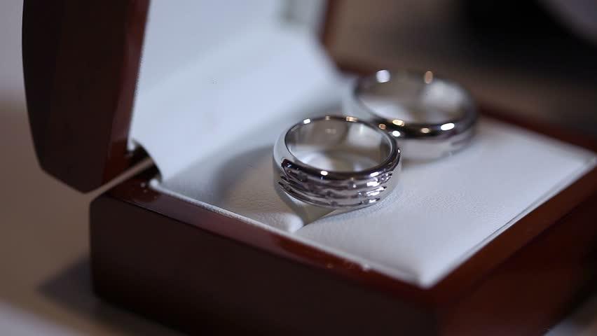 Stock video of wedding rings in box, wedding rings | 19873231 ...