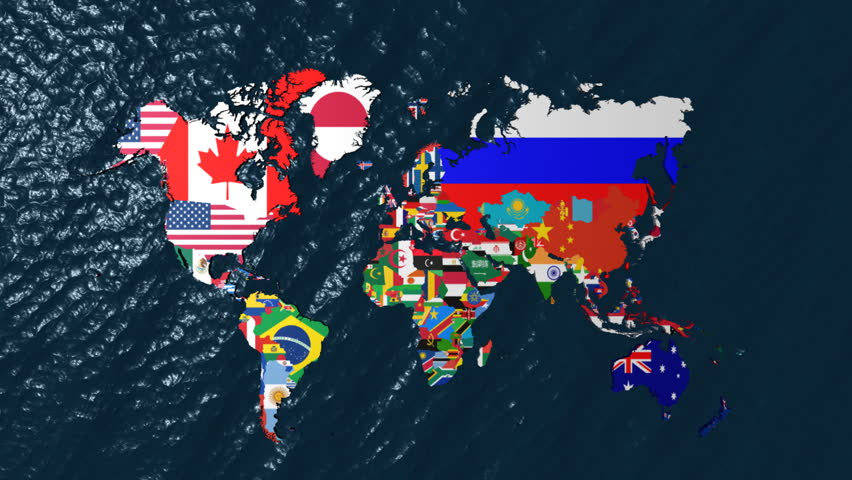 3d world map to south america with clouds stock footage video libya world map with flags as countries hd stock footage clip gumiabroncs Image collections
