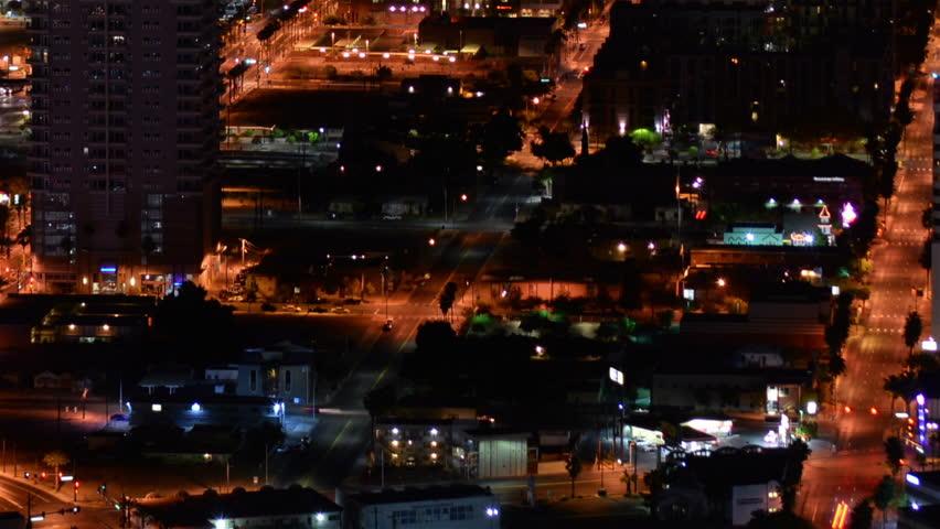 Las Vegas Cityscape 12 Time Lapse Downtown Pan R | Shutterstock HD Video #20013271