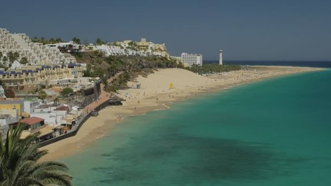 Turquoise Water at Morro Jable Beach, Fuerteventura, Canary Islands