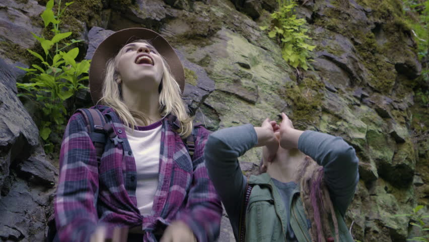 Funny Hikers Howl Like Coyotes Or Wolves