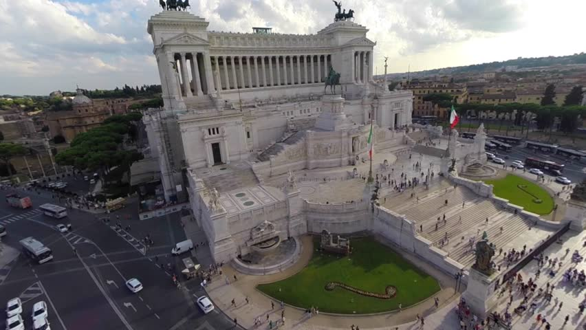 Rome by Drone Military Monument