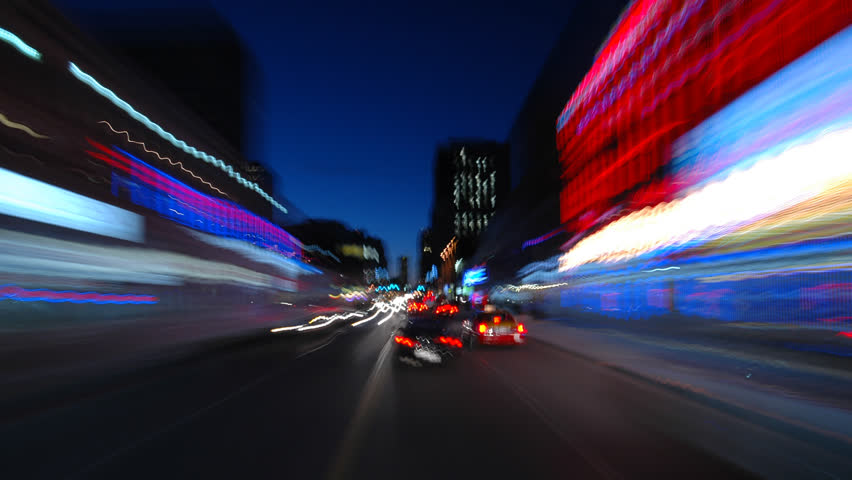 A light-speed blast though the city. | Shutterstock HD Video #200752