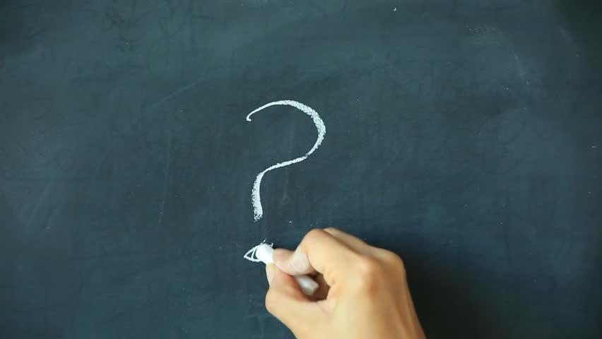 Chalk writing - ? on chalkboard | Shutterstock HD Video #20098168