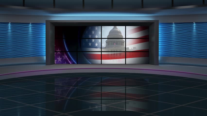 US Election - Virtual Green Screen Background Loop - Royalty Free Video