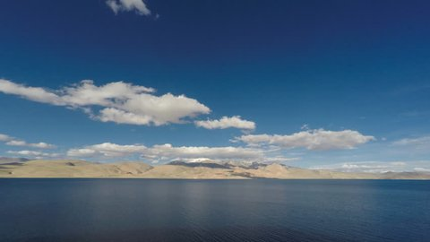 Panning timelapse at Tsomoriri lake in Ladakh India