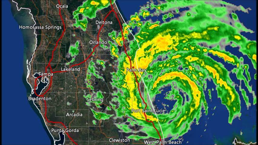 1995 Hurricane Erin Landfall Doppler Radar Time Lapse. Pursuant to 17 U.S.C. § 403: This work was created using archived NEXRAD Data from the NWS that is not subject to copyright protection. | Shutterstock HD Video #20174491