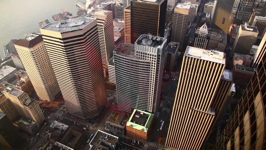 Looking down at buildings. | Shutterstock HD Video #2018101