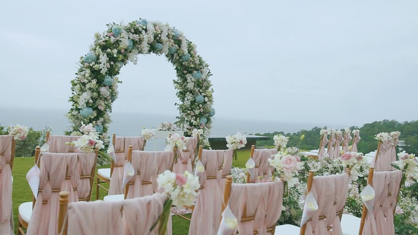 Stock video of wedding flower arch decoration wedding arch hd0005wedding flower arch decoration wedding arch decorated with flowers junglespirit