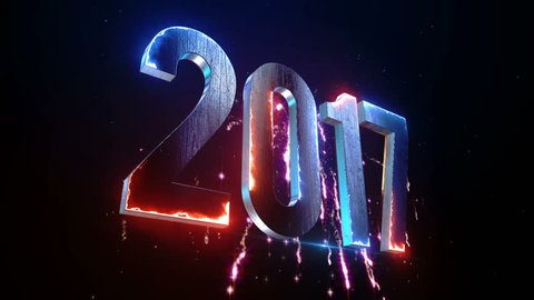 New Year 2017 Animation. 2017 New Year animation. Best for New Year's Eve, friends party, and other event.
