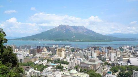 timelapse of Sakurajima at Kagoshima prefecture in Japan