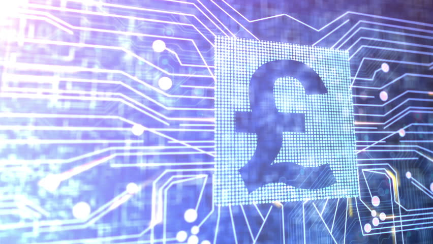 Animation of a circuit board and a Pounds Sterling currency sign. | Shutterstock HD Video #2029771