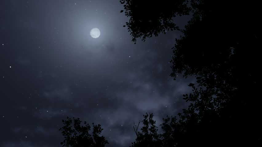 3d animation as it eventually becomes obscured by clouds. halloween background concept