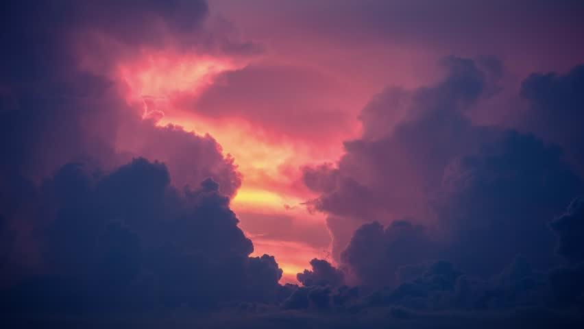 Scenic Miami sunset timelapse, Florida, USA #20315881