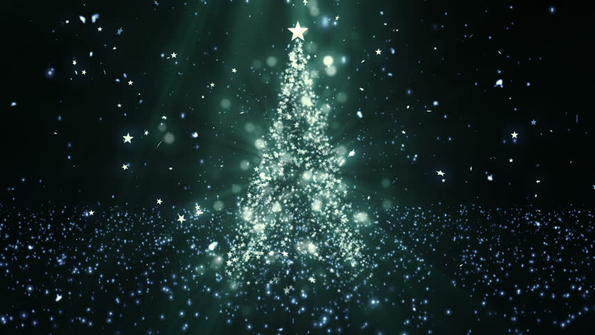 Christmas Tree Stars 1 Background Stock Footage Video 100 Royalty