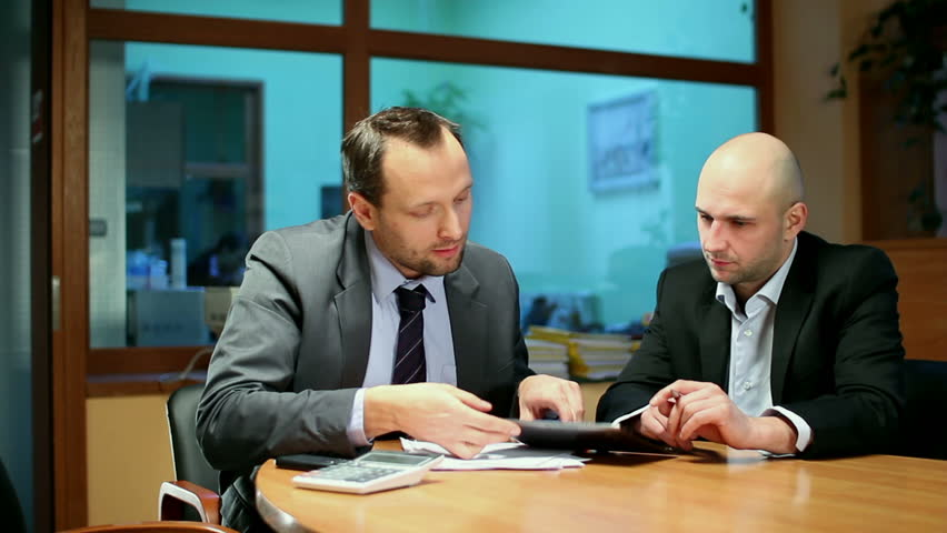 Business partners with digital tablet in the office, steadicam shot | Shutterstock HD Video #2044847
