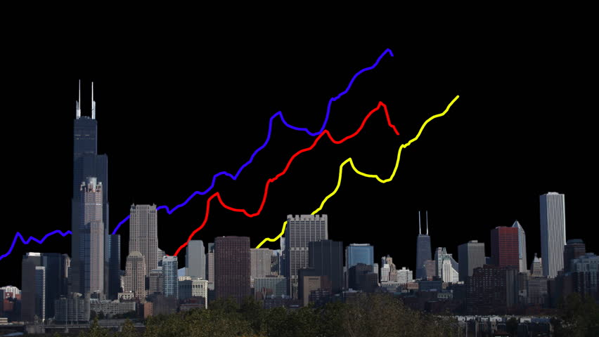 Chicago skyline with graphs animation | Shutterstock HD Video #2047961