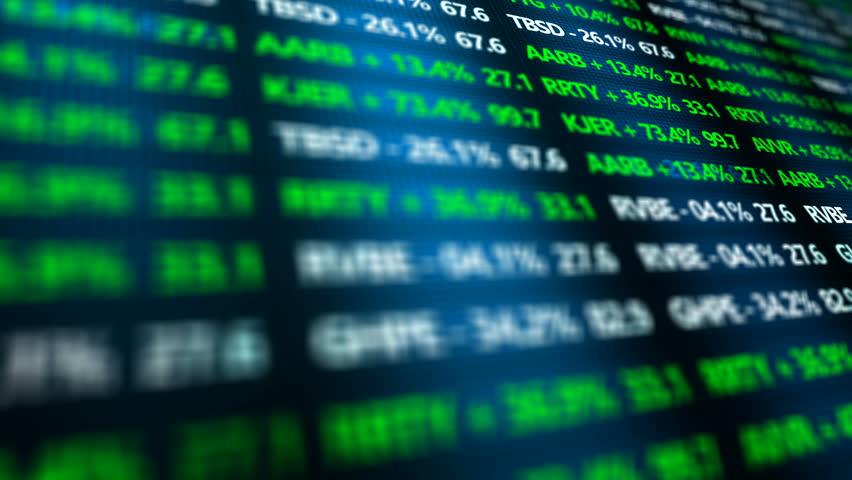Stock Market Ticker ominous closeup in digital landscape of Stock Exchange   Shutterstock HD Video #20535616