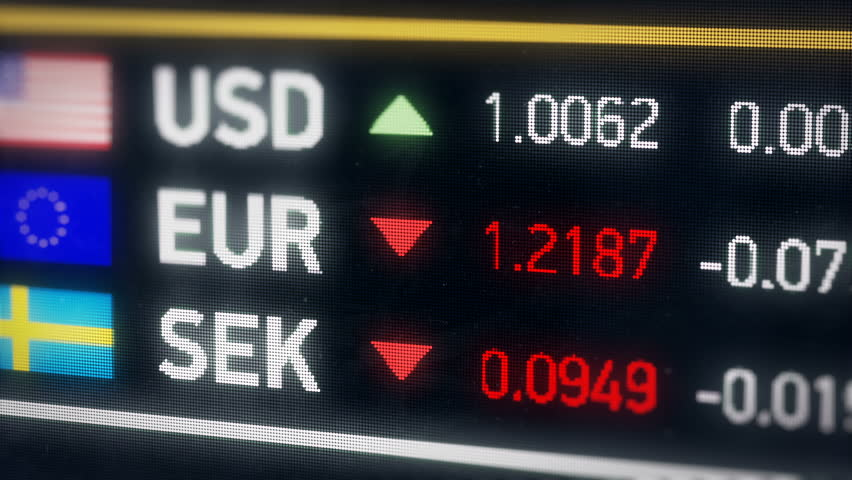 Swedish Krona, US dollar, Euro comparison, currencies falling, financial crisis. World currencies plummet down, financial crisis, stock market crash | Shutterstock HD Video #20582551