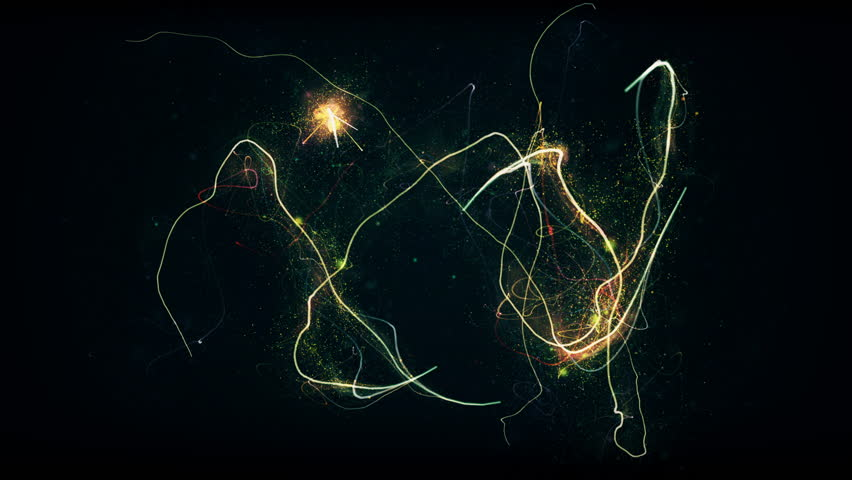 Glittering stars with sparkling trail glow dust chaotic | Shutterstock HD Video #20583169