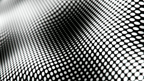 Waving halftone dots pattern abstract motion background seamless loop